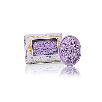 Saponificio Artigianale Fiorentino Handmade Soap - Blue Rain - Filigree Decorated in Gift Box 125g