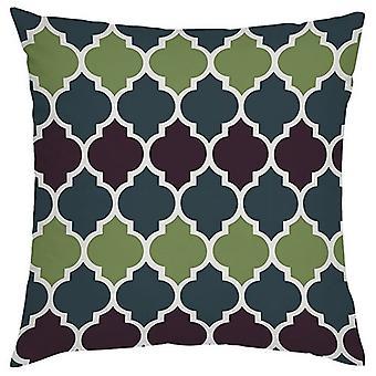 Gardenista Decorative Garden Cushion Cover 45x45 cm | Lantaarn ontwerp Klimop Groen | Zacht water - Bestand stof voor duurzaamheid | Waterdichte buitenkussenhoezen | Marokkaanse collectie voor tuinen