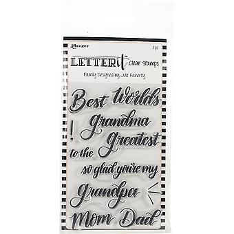Ranger Letter It Clear Stamp Set 4