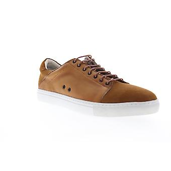 Zanzara Record  Mens Brown Suede Lace Up Low Top Sneakers Shoes