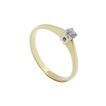 14 carat gold bicolor ring
