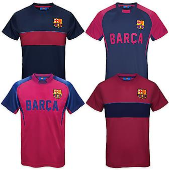 FC Barcelona Mens T-Shirt Poly Training Kit OFFICIAL Football Gift