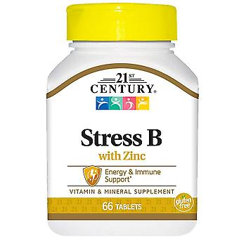 21st century stress b med zink, tabletter, 66 ea