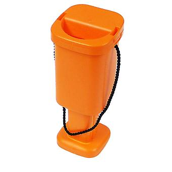 5 Square Charity Money Collection Boxes - Orange
