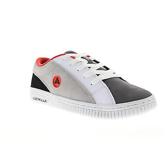 Airwalk The One Suede TRI Mens Gray White Low Top Athletic Surf Skate Shoes