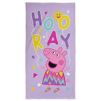 Peppa Pig Balloons Towel