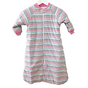 uh-oh! Baby Sleeping Bag with Long Sleeves 3.0 tog Warmth Rating Multi Pink Stripe