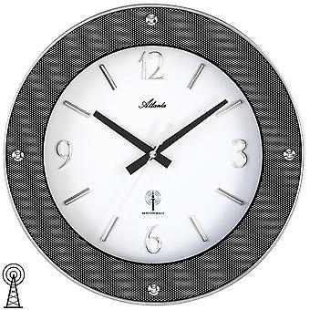 أتلانتا 4390 ساعة ساعة الحائط راديو الإذاعة ساعة ساعة التناظرية جولة الكربون البصريات مع الزجاج