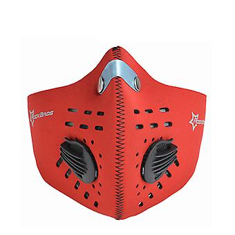 Exercise mask-limiting oxygen intake-red
