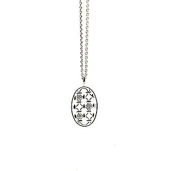 Babette Wasserman ? Silver Twins Sterling necklace with oval pendant of 46 cm - silver - color: silver - cod. NS444SI