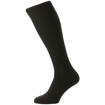 Pantherella Rutherford Merino Royale Over the Calf Socks - Noir