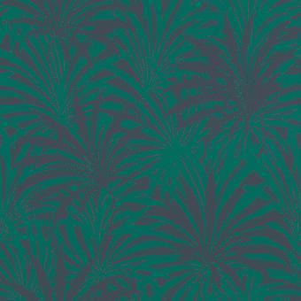 Eitelkeit Fair Palm Print Wallpaper Grün/Blau Rasch 525946