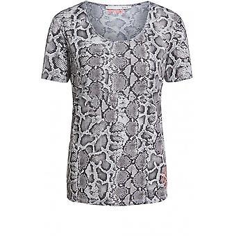 Oui Snake Skin Print T-Shirt