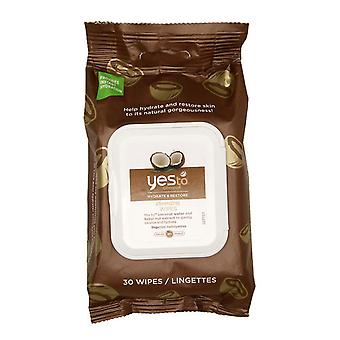 Yes to coconut cleansing wipes, 30 ea