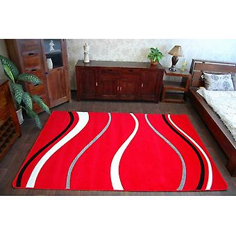 Rug FOCUS -  8732 red WAVES LINES DASHES