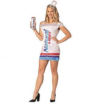 Natürliche Licht Bier kann Kleid Kostüm