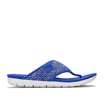 Women's Fit Flop Artknit Toe Thong Sandalias en Azul