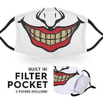 Clown - Reusable Adult Cloth Face Masks - 2 Filters Included