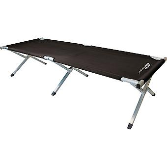 Yellowstone Folding Single Camp Bed (Black)