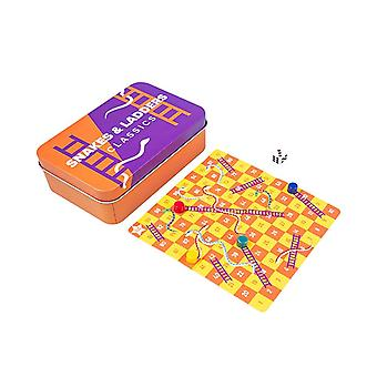 Classic Mini Snakes and Ladders Magnetic Travel Game