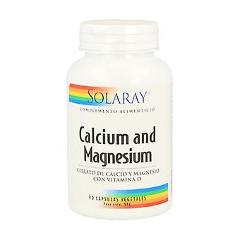 Solaray Calcium Magnesium med D-vitamin 90 kapsler