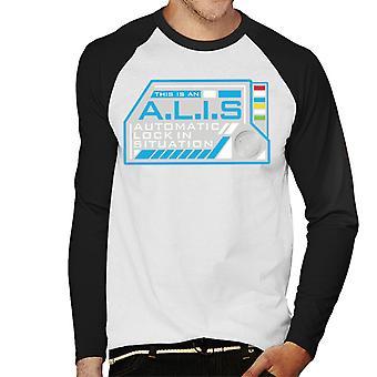 Crystal Maze Alis Auto lock menn ' s baseball langermet T-skjorte