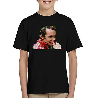 Motorsport Images Niki Lauda German GP 1976 Glitch Effect Kid's T-Shirt