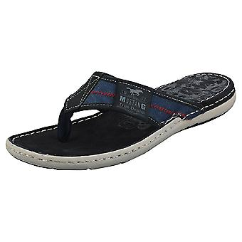 Mustang Single Strap Mens Walking Sandals in Navy