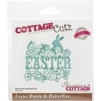 "CottageCutz Elites Die-Bunny & Fjärilar 3,4&X3.5"""