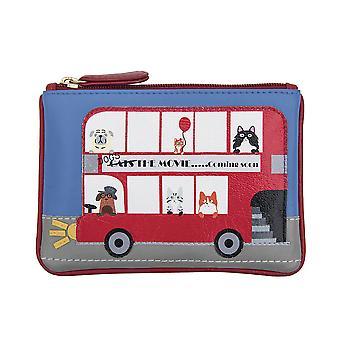Primehide Small Womens Coin Purse - Bus Design Change Wallet - 725