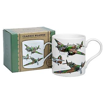 Classic Fighter Planes Fine Bone China Mug - Boxed Gift Item
