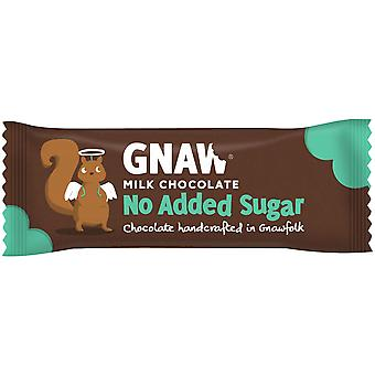 Gnaw No Added Sugar Milk Chocolate Bars