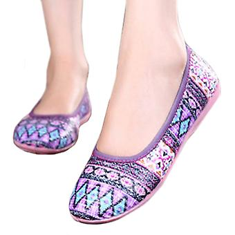 Weaved Soft Sole Rubber Women Thin Shoes