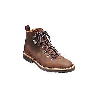 Barker Glencoe - Mid Brown Waxy Suede - 9 | Mens Handmade Leather Boots | Barker Shoes