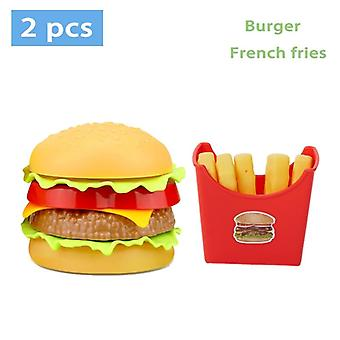 Children Pretend Simulation Food, Baby Play House Hamburger Dog French Fries