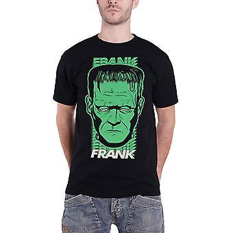 Frankenstein T Shirt Frank Frank Logo nieuwe Officiële Mens Black