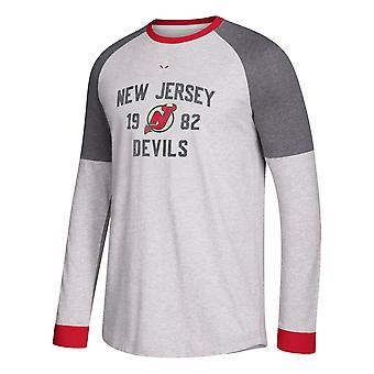 Adidas Nhl New Jersey Devils Long Sleeve Crew Tee