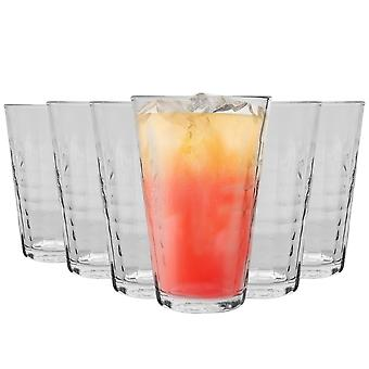 Duralex Prisme Highball Cocktail Glasses - 330ml Verre Tumblers - Clear - Pack de 12