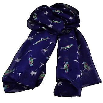 Ties Planet Perakeets Animal Print Purple Lightweight Women's Châle Scarf