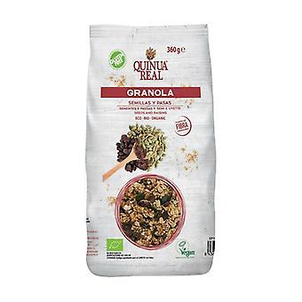 Granola de Quinoa Real z bezglutenowymi nasionami i rodzynkami Bio 360 g