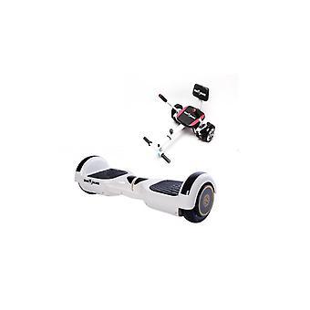 Package Smart Balance™ Hoverboard 6,5 pouces, Poignée blanche régulière + Hoverseat avec éponge, Moteur 700 Wat, Bluetooth, Led