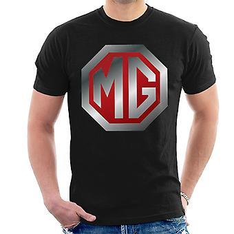 MG Shiny Red And Chrome Logo British Motor Heritage Men's T-Shirt