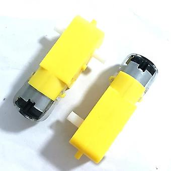 2pcs Tt Motor 130motor Smart Car Robot Gear Motor Dc3v-6v Dc Gear Motor Intelligent Car Chassis