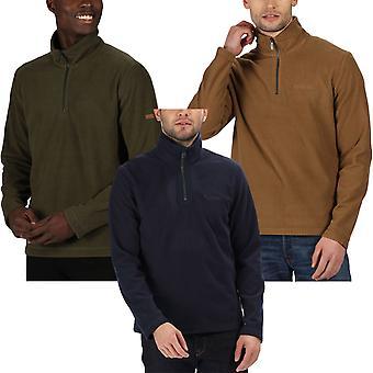 Regata Mens Elgrid 1/2 zip Mid Peso all'aperto a piedi Fleece Pullover