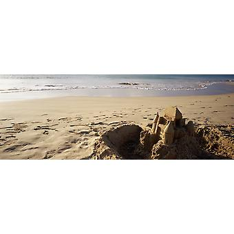 Sandcastle On The Beach Hapuna Beach Big Island Hawaii USA Poster Print