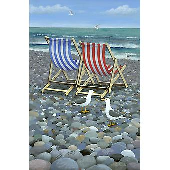 Deck Chairs Poster Print by Peter Adderley