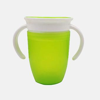 Lækagetrækt Magic Kids Vand Fodring Bottle - Baby Learning Drinking Plastic Cup