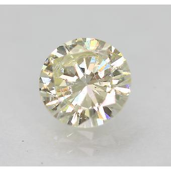 Certified 0.63 Carat J VVS2 Round Brilliant Enhanced Natural Diamond 5.64mm 3VG