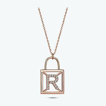 Bogstavet R Guld halskæde