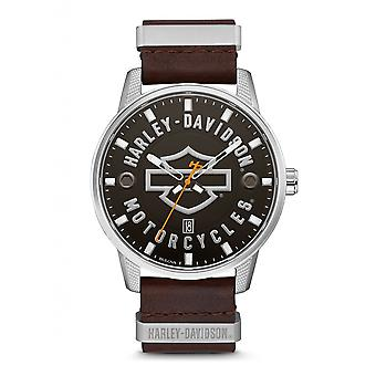 Harley Davidson 76B178 Men's Strap Wristwatch